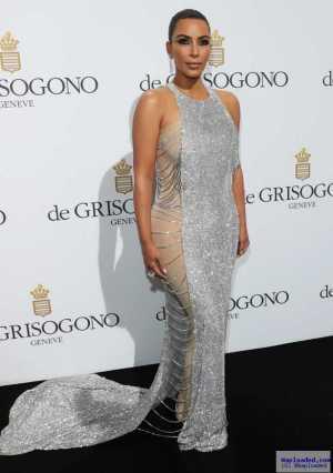 Photos: Kim Kardashian looks gorgeous at Cannes in sexy silver gown